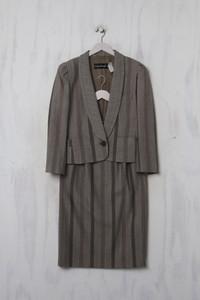 Louis Féraud PARIS - Vintage-Kostüm aus reiner Schurwolle - XL