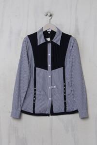 Alba Moda - Streifen-Bluse mit Biesen - S