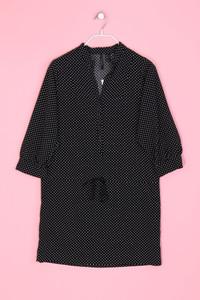 MANGO SUIT - Polka Dot-Kleid mit Tunnelzug - M