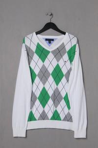 TOMMY HILFIGER - Strick-Pullover mit Argyle-Muster aus Baumwolle - XL