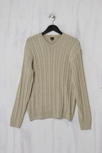 Calvin Klein Jeans - Strick-Pullover mit Zopf-Muster aus Baumwoll-Mix - L