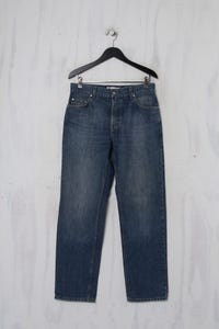 BOGNER JEANS - Used Look-Jeans aus Baumwolle mit Logo-Patch - S