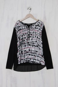 BARBARA LEBEK - Print-Longsleeve-Shirt mit Viskose - XL