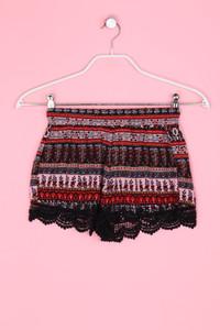 TALLY WEiJL - Boho-Hotpants mit Häkelspitze - XS