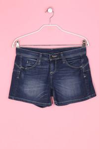BENETTON JEANS - Denim-Shorts mit aufgesetzten Taschen - XS