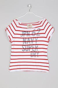 Superdry. - Streifen-Shirt mit Logo-Print - S