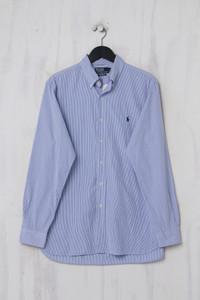 POLO RALPH LAUREN - gestreiftes Button-down-Hemd mit Logo-Stickerei - L