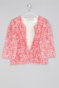 Zara Knit - leichte Jacke mit Fransen aus Baumwolle - M