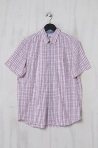 LACOSTE - Karo-Kurzarm-Hemd mit Button-down-Kragen - L