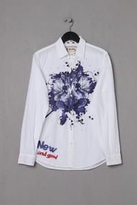 Desigual - Casual-Hemd mit Blumen-Print - S