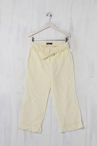 CAMBIO - Garment Dyed-Capri-Hose aus Leinen mit Gürtel - S