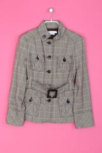ZARA BASIC - leichte Jacke mit Gürtel im Brit-Style - L