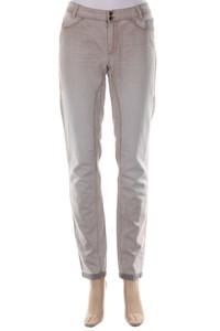 MARC CAIN - Skinny-Hose mit Logo-Patch aus Baumwoll-Mix - M