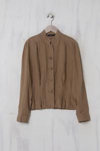 CAROLL - leichte Jacke aus Leinen mit Stehkragen - XL