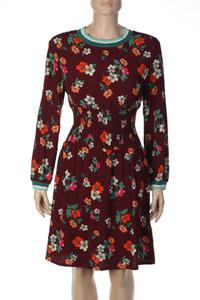 maje - Kleid aus Viskose mit Blumen-Print - M