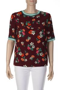 maje - Kurzarm-Shirt aus Viskose mit Blumen-Print - M